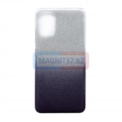 Чехол задник для Samsung А01 гелевый цветной+блестки