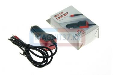 АЗУ microUSB USB Car Charger 2.4A  (цельное)