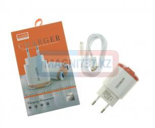 СЗУ microUSB Travel Adapter 3.0 UH20 2в1