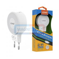 СЗУ  LDNIO DL-A2268  2 в 1 (microUSB)  2 выхода USB  2.1A