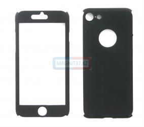 Чехол гель черный iPhone 7   FULL 360