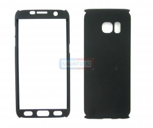 Чехол гель черный Samsung S7 edge  FULL 360
