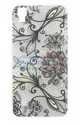 Чехол задник для LG К220/X Power гель орнамент цветочный