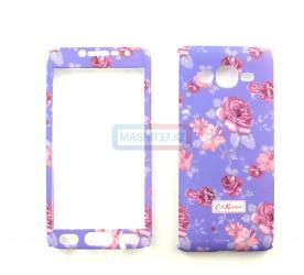 Чехол задник для Samsung J2 prime  пластик full 360 цветочный