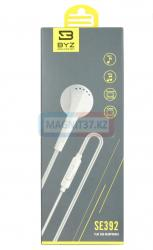 Наушники BYZ-SE392 не вакуумные с микрофоном