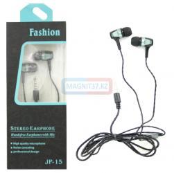 Наушники Fashion JP-15 вакуумные с микрофоном