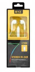 Наушники BYZ-LT390 для iP7 не вакуумные с микрофоном