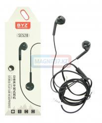 Наушники BYZ-SE528 не вакуумные с микрофоном