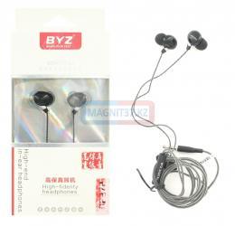Наушники BYZ- SE372 вакуумные с микрофоном