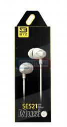 Наушники BYZ- SE521 вакуумные с микрофоном