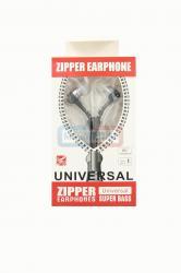 Наушники Zipper  вакуумные с микрофоном