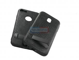 Чехол задник для Samsung J730 пластик+кожа+подставка