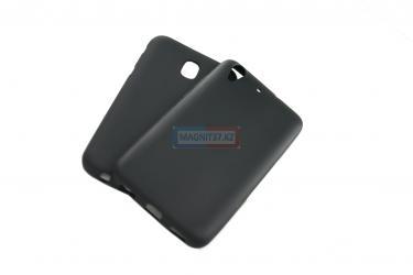 Чехол задник для Huawei P8 lite гель черный матовый