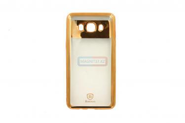 Чехол задник для Samsung J120 гель Baseus (золото)