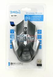 Мышь беспроводная  2.4 Ghz W-100