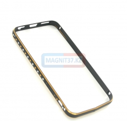 Бампер для iPhone 6 металл, стразы (2)