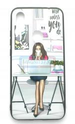 Чехол задник для iPhone 7 пластик женский