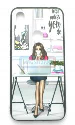 Чехол задник для iPhone Х пластик женский