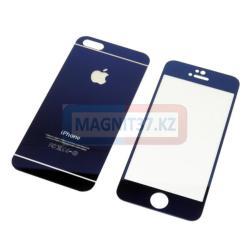 Защитное стекло для iPhone 5 2в1 зеркальное
