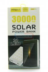 Зарядное Power Bank Demaco A9 30000 mAh солн.батарея