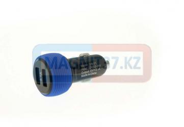 АЗУ 2 выхода USB 2.1А колесо (цветное)
