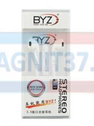Наушники BYZ-S389 не вакуумные с микрофоном (iphone)