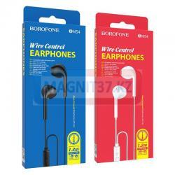 Наушники Borofone BM54 вакуумные с микрофоном