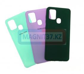 Чехол задник Siliconе Case (цветной) для Samsung A02S (2021)