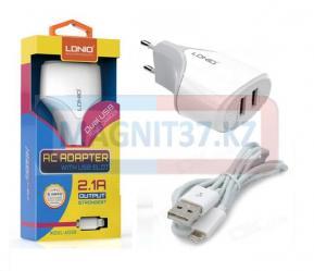 СЗУ  LDNIO DL-A2268  2 в 1 (iPhone 5)  2 выхода USB  2.1A