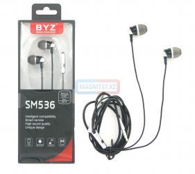 Наушники BYZ- SE536 вакуумные с микрофоном