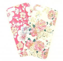 Чехол задник для iPhone 7 гель цветочный тонкий