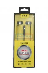 Наушники BYZ-SM539 вакуумные с микрофоном