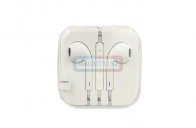 Наушники iPhone_5 Afka-Tech не вакуумные с микрофоном