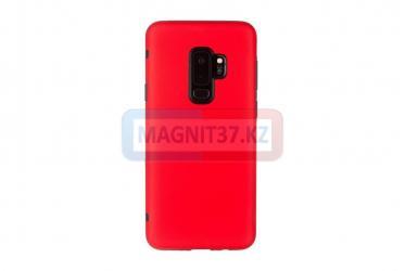 Чехол задник для Samsung S9 + гель красный матовый