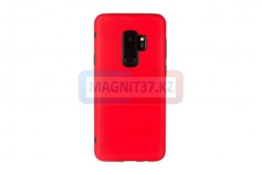 Чехол задник для Samsung S9 гель красный матовый