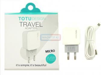 СЗУ microUSB TOTU Design 2в1 2,1А