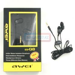Наушники AWEI es-Q8 вакуумные с микрофоном