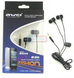 Наушники AWEI Q35 вакуумные с микрофоном (тканевые)