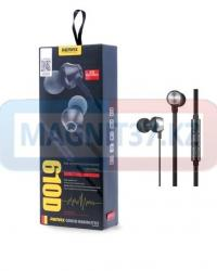 Наушники Remax 610D вакуумные с микрофоном