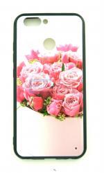 Чехол задник для Samsung J6(2018) пластик цветы