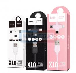 Кабель MicroUSB+ iPhone5  Hoco X10