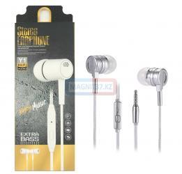 Наушники Stereo Earphone Y1 вакуумные с микрофоном