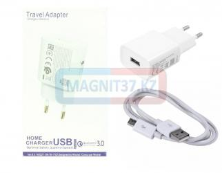 СЗУ microUSB Travel Adapter 3.0 С9 2в1