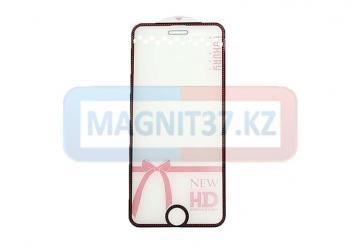 Защитное стекло 3D для iPhone 6/7/8 со стразами
