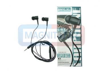 Наушники BNYLXL L-63 вакуумные с микрофоном